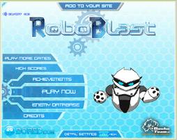RoboBlast Title Screen