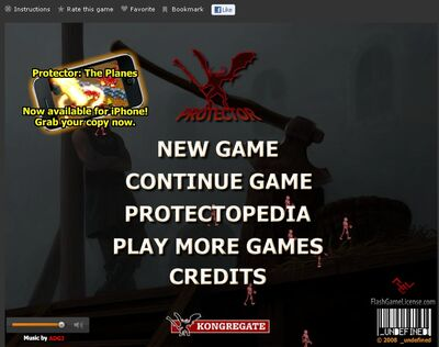 Protector Title Screen