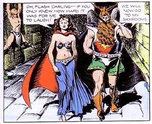 Comic strip of flash gordon