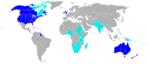 Anglosphere map