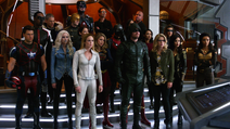 Earth One heroes and Earth-X rebels listens to Oliver of Earth-X's bargain