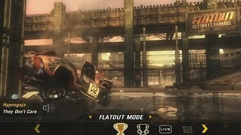 "FlatOut Ultimate Carnage (2008) - main menu ""Hypnogaja - They Don't Care"" Full HD"