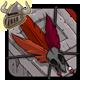 Red Birdskull Armband
