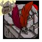 Red Birdskull Wingpiece