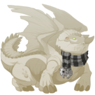 Silver steampunk scarf snapper f