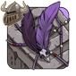 Purple Birdskull Wingpiece