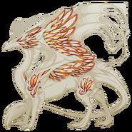 Blazing Phoenix Feathers Accent