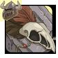 Brown Birdskull Legband