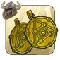 Gold Earrings of Alchemy