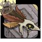 Brown Birdskull Headdress
