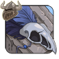 Blue Birdskull Legband