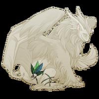 Green birdskull legband tundra m