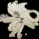 Gold steampunk wings mirror f