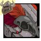 Red Birdskull Legband