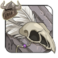White Birdskull Legband