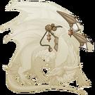 Gold steampunk wings guardian m