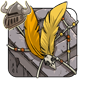 Golden Birdskull Wingpiece