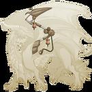 Gold steampunk wings guardian f