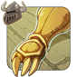 Burnished Gold Gauntlets
