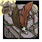 Brown Birdskull Wingpiece