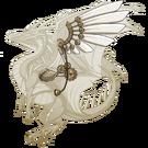 Gold steampunk wings rback f