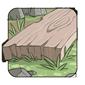Sanded ash plank