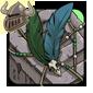 Green Birdskull Wingpiece