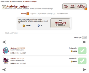 Activity ledger