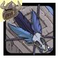 Blue Birdskull Armband