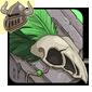 Green Birdskull Legband