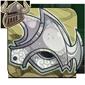 Ornate Platinum Helmet