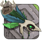 Green Birdskull Headdress
