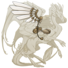 Gold steampunk wings skydancer f