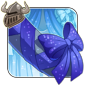 Sparkling Blue Tail Bow