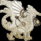 Gold steampunk wings rback m