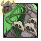 Green Birdskull Necklace