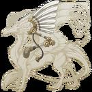 Gold steampunk wings skydancer m