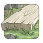 Sanded birch plank