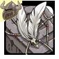 White Birdskull Wingpiece