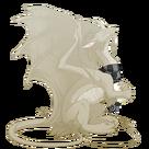 Silver steampunk scarf pearl f