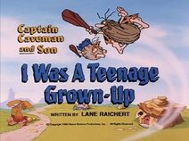The Flintstone Kids - Episode Title Card Image - I Was a Teenage Grown-Up