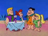 The Flintstones - Jealousy - Fred, Wilbur, Barney and Wilma