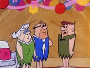 The Flintstones - Mr. and Mrs. Slate with Joe Rockhead in The Birthday Party