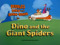 Dino and the Giant Spider