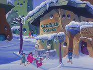 Bedrock Police Station from A Flintstone Family Christmas
