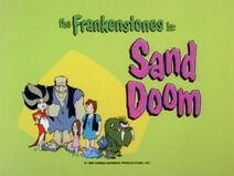 The Flintstone Comedy Show - Episode Title Card - Sand Doom