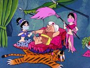 The Flintstones - Royal Rubble - Prince Barney with Harem Girls
