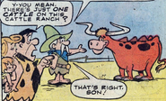 Tex and the Longhorn in the sixth issue of the 1977 comics