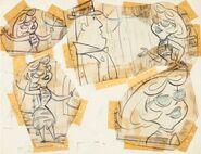The Flintstones - Perry Gunnite and Pebble Bleach - Model Sheet - 2