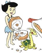 Turtle Tire Jack with Betty Rubble from The Flintstones' Wacky Inventions